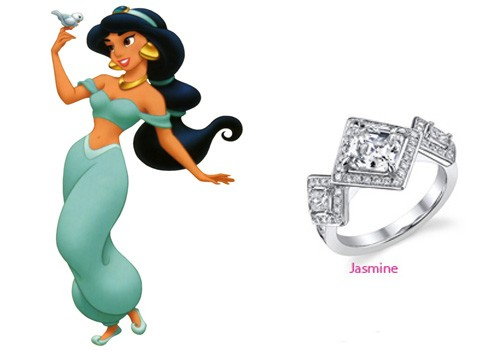 Disney Princess series Diamond Engagement Rings Ariel