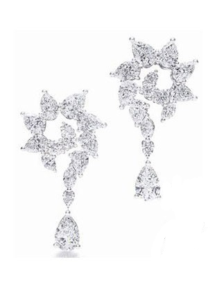 Harry Winston Garland series Diamond Pending Earrings