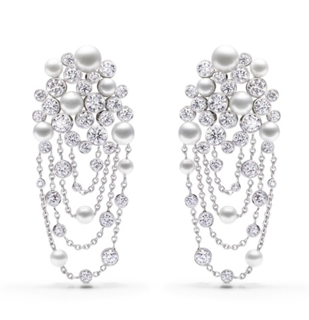 Piaget Limelight Garden Party series Crystal Dews Themed Earrings